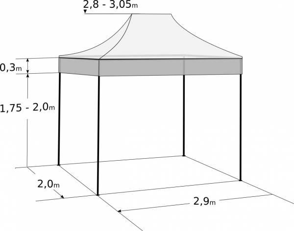 Pavilion de grădină 2x3m - din oțel: Dimensiuni și parametri