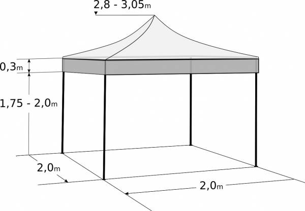 Pavilion de grădină 2x2m – din oțel: Dimensiuni și parametri